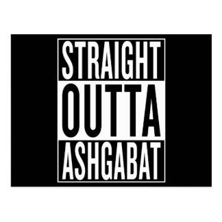 Cartão Postal outta reto Ashgabat