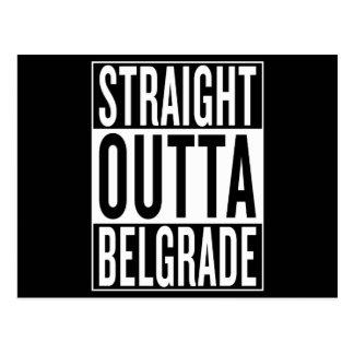 Cartão Postal outta reto Belgrado