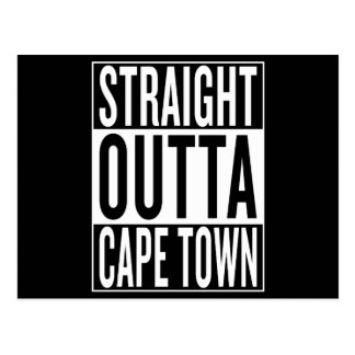 Cartão Postal outta reto Cape Town