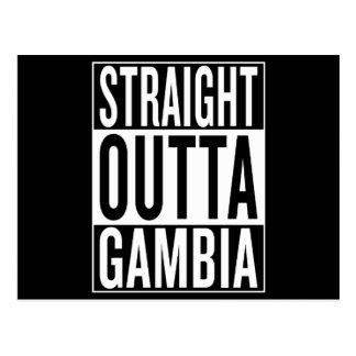 Cartão Postal outta reto Gambia