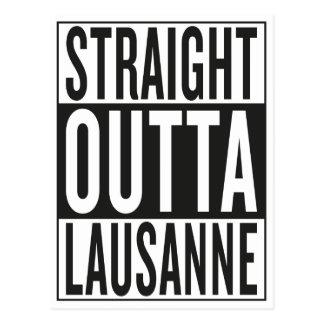 Cartão Postal outta reto Lausana