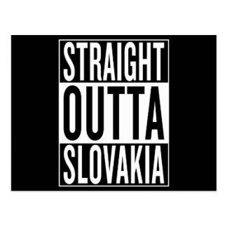 Cartão Postal outta reto Slovakia