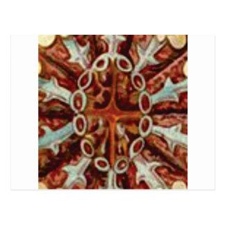 Cartão Postal oval das figuras e das formas