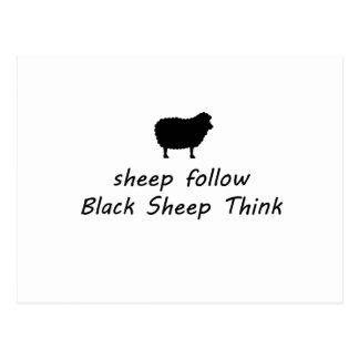Cartão Postal ovelhas negras