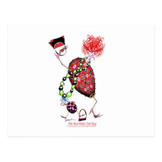 Cartão Postal Ovo fabuloso do rubi vermelho de Tony Fernandes