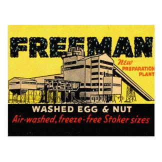 Cartão Postal Ovo & porca industriais de Freeman do kitsch retro