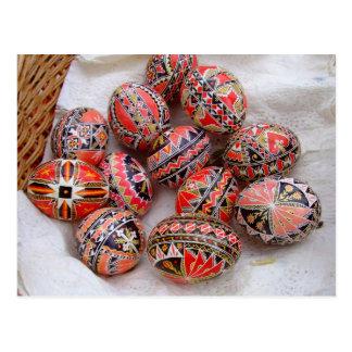 Cartão Postal Ovos da páscoa