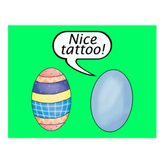 Cartão Postal Ovos da páscoa agradáveis do tatuagem