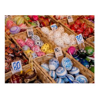 Cartão Postal Ovos da páscoa checos