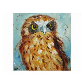 Cartão Postal Owl#7