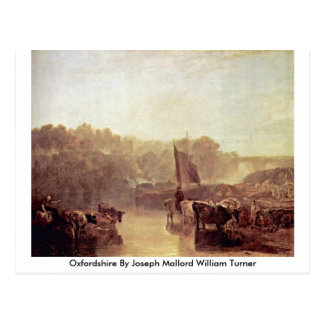Cartão Postal Oxfordshire por Joseph Mallord William Turner