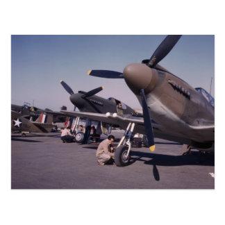 Cartão Postal P-51 Mustang, 1942