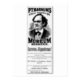 Cartão Postal P.T. Mistura variada de viagem do museu de Barnum