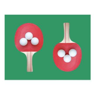 Cartão Postal Pá e bolas de Pong do sibilo