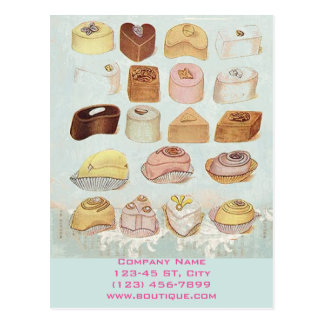 Cartão Postal padaria doce bonito dos biscoitos do chocolate da