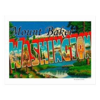 Cartão Postal Padeiro da montagem, Washington - grandes cenas da