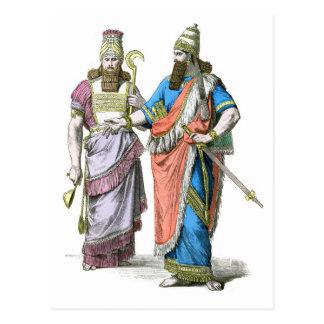 Cartão Postal Padre alto e rei Assyrian