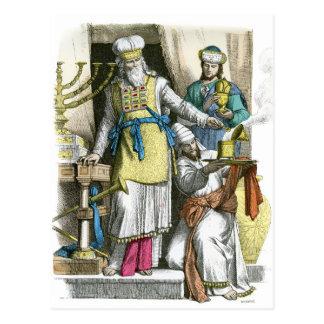 Cartão Postal Padre alto judaico antes da época do cristo