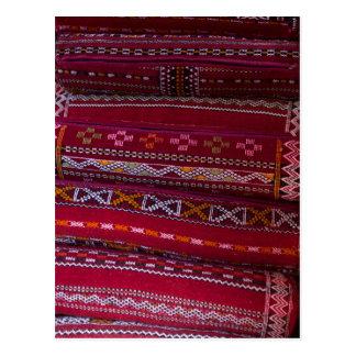 Cartão Postal Padrões do travesseiro de matéria têxtil