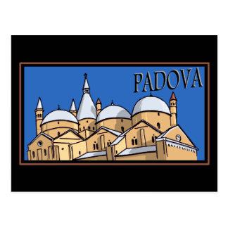 Cartão Postal Padua - estilo do tronco do navio a vapor