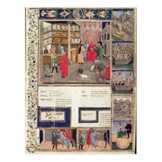 """Cartão Postal Página de """"Canon da medicina"""" por Avicenna"""