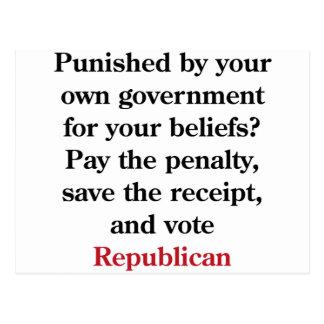 Cartão Postal Pague a pena, republicano do voto