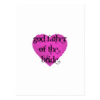 Cartão Postal Pai do deus da noiva