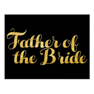 Cartão Postal Pai do ouro da noiva