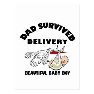 Cartão Postal Pai e filho bonito do bebê