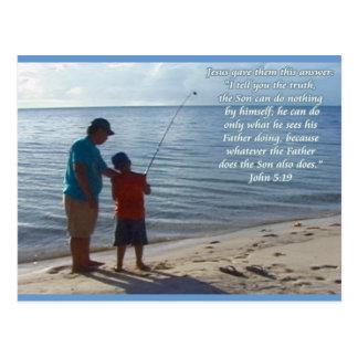 Cartão Postal Pai, filho e deus