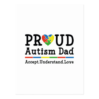 Cartão Postal Pai orgulhoso do autismo