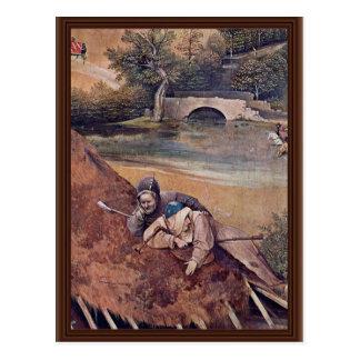 Cartão Postal Painel central do Triptych do esmagamento: