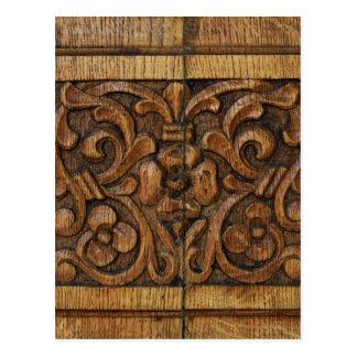 Cartão Postal painel de madeira