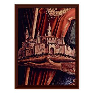 Cartão Postal Painel do direito do Triptych do altar