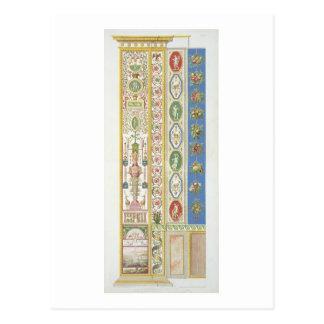 Cartão Postal Painel do Loggia de Raphael no vaticano, engr