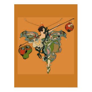 Cartão Postal País das fadas da bailarina com lanternas