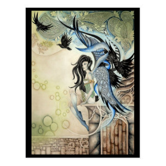 Cartão Postal País das fadas do corvo