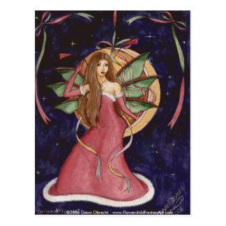 Cartão Postal País das fadas do ornamento pelo alvorecer Obrecht