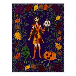 Cartão Postal País das fadas do outono