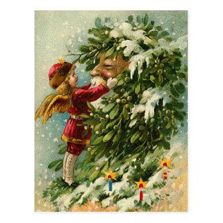 Cartão Postal País das fadas e papai noel do Natal do Victorian