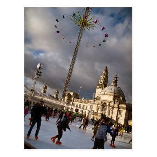 Cartão Postal País das maravilhas do inverno de Cardiff