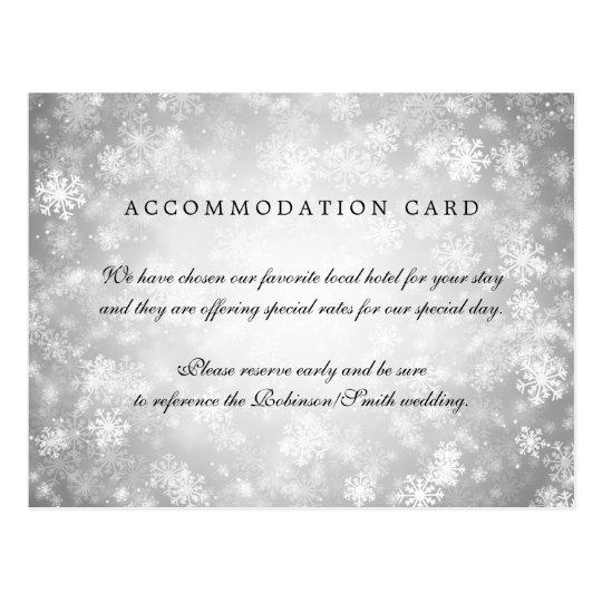 Cartão Postal País das maravilhas elegante do inverno da prata