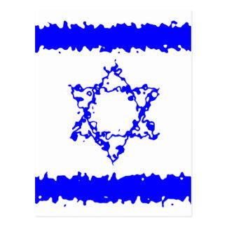 Cartão Postal País do azul de Israel das bandeiras