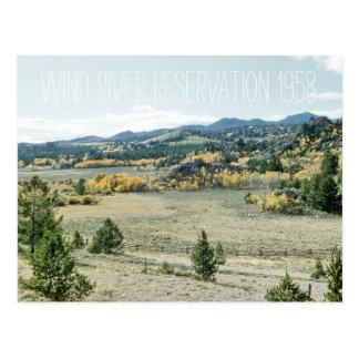 Cartão Postal Paisagem 1958 de Wyoming da reserva de Wind River