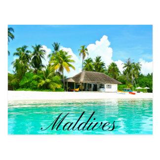 Cartão Postal Paisagem bonita de Maldives