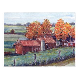 Cartão Postal Paisagem-cartão de Wisconsin