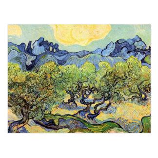 Cartão Postal Paisagem com as oliveiras por Vincent van Gogh