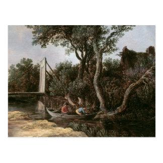 Cartão Postal Paisagem com ponte, c.1628