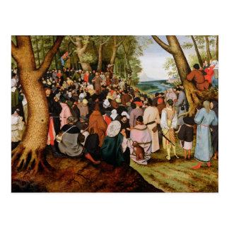 Cartão Postal Paisagem com St John o baptista que Preaching