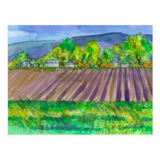 Cartão Postal Paisagem da montanha da terra de fazenda